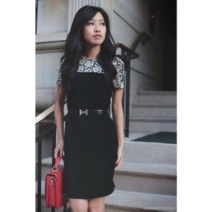 VINCE CAMUTO Lace Print Crepe Dress